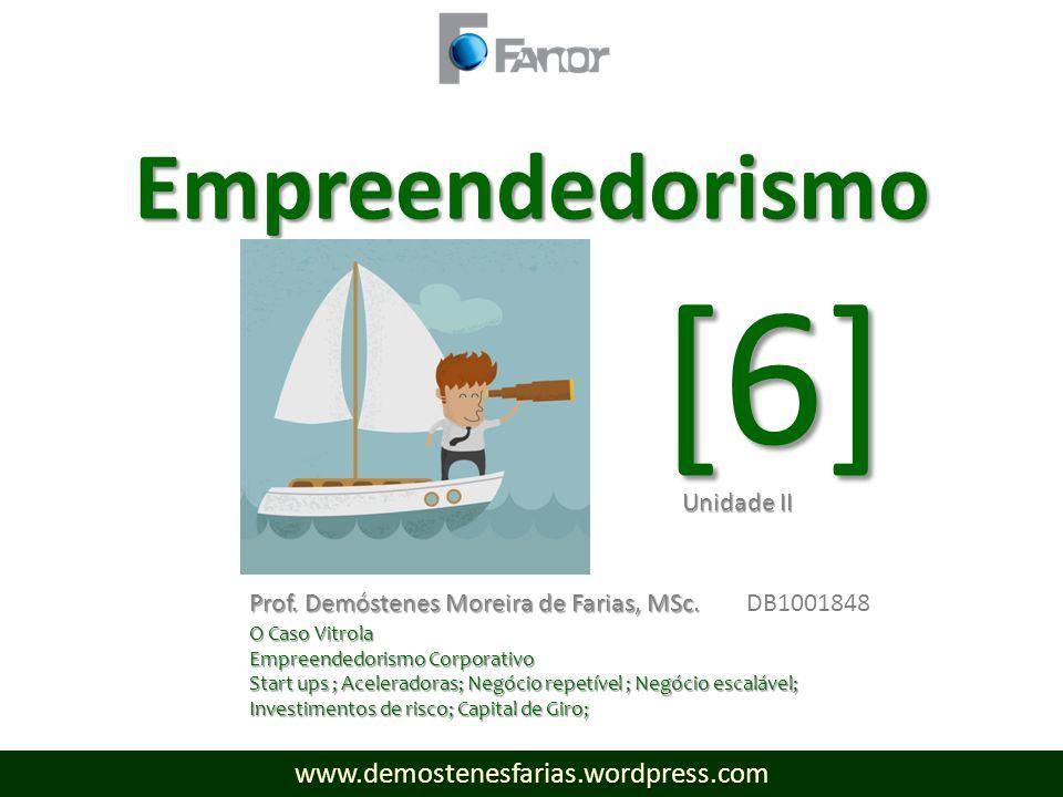 [6] Empreendedorismo www.demostenesfarias.wordpress.com Unidade II